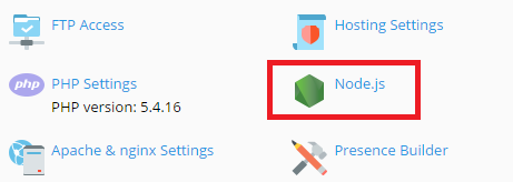 How to use Node.js on our shared hosting